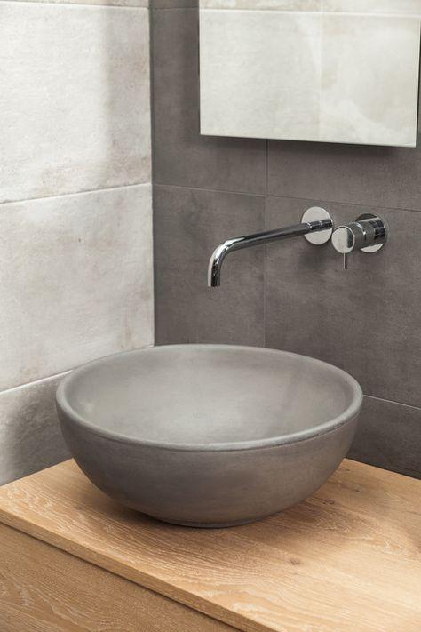 Waschbecken Beton Loan Aufsatz Rund 43 5 Cm Mit Bildern Waschbecken Moderne Badezimmer Waschbecken Badezimmer Waschbecken