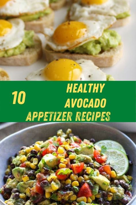 Healthy avocado recipes. 10 Must-try healthy avocado appetizer recipes. Add these amazing avocado recipes to your Pinterest board. Click the logo to save. #healthyavocadoappetizerrecipes #avocadoappetizerrecipes #healthyappetizerrecipes #healthyavocadostarterrecipes #avocadostarterrecipes #healthystarterrecipes #healthyrecipes #easterrecipes #healthyeasterappetizers