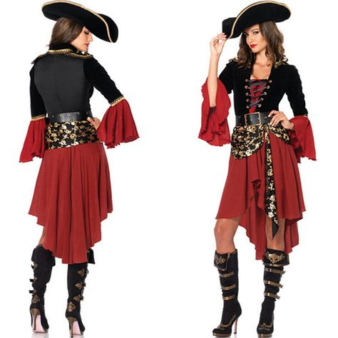 2016 nouveau Design Halloween sexy femmes femmes pirate vêtements costumes de(China (Mainland))