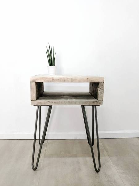 Grey Weathered Farmhouse Coffee Table Download Reclaimed Wood Bedside Table Noa Weathered Gre In 2020 Reclaimed Wood Bedside Table Retro Side Table Wood Bedside Table