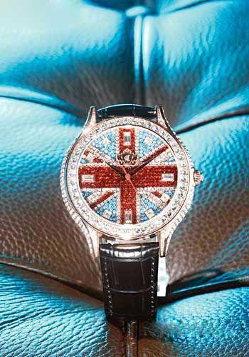 Chouette British flag amphibole crystal watch $ 8,610