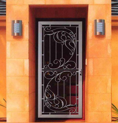 Exterior, Wrought Iron Screen Doors: Elevating Home Beauty: Classic Wrought Iron Screen Doors