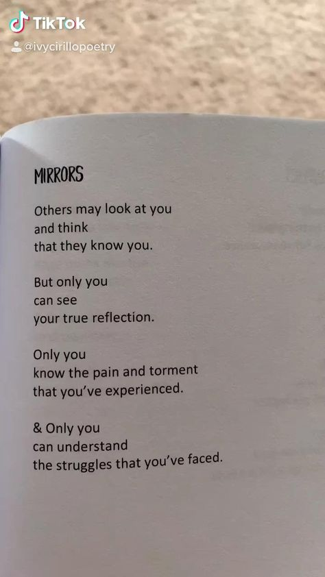 Poem titled Mirrors an excerpt from Unveiled: A Poetry Memoir by Ivy Cirillo. Now available on Amazon, Barnes & Noble, and Books A Million! Signed copies at www.ivycirillo.com/author Follow @ivycirillopoetry on TikTok!