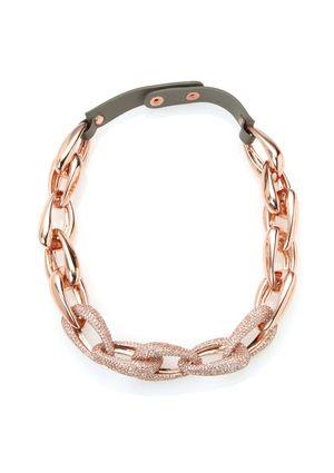 VINCE CAMUTO Pave Link Necklace
