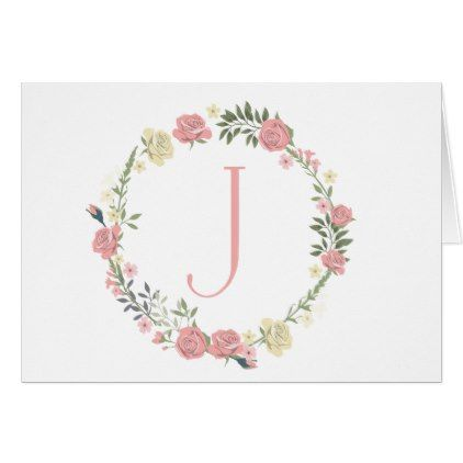 Monogram Quot J Quot Card Thank You Gifts Ideas Diy Thankyou Monogrammed Note Cards Cards Monogram