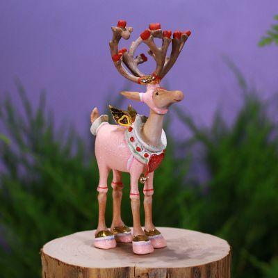 Patience Brewster MINI DASHAWAY BLITZEN REINDEER ornament KRINKLES NIB CUTE!!