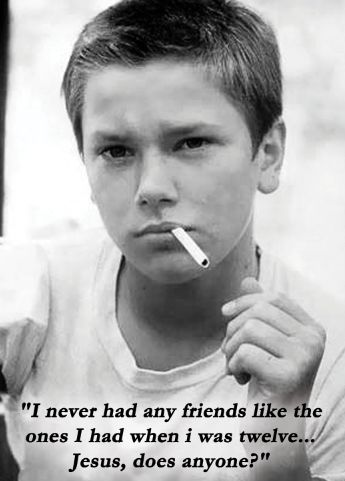 """Stand By Me. One of my all time favorites. """"I never had friends like the ones I had when I was twelve. Jesus, does anyone?"""""""