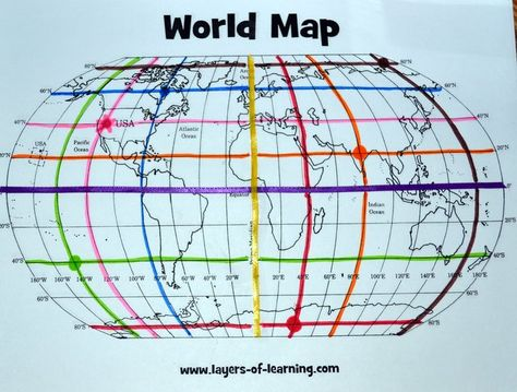 Free Printable World Map And Mapping Activity For Learning About - Blank world map outline latitude longitude