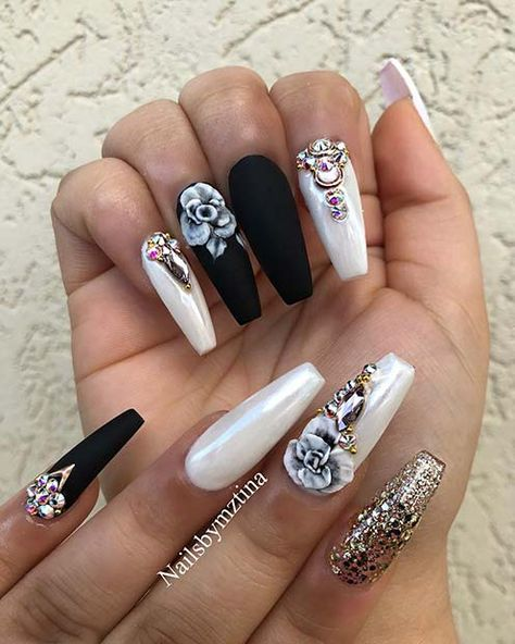21 Bold and Edgy Black Coffin Nails | Page 2 of 2 | StayGlam