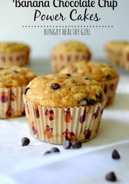 Banana Chocolate Chip Power Cakes Recipe Food Recipes Food Chocolate Chip Muffins