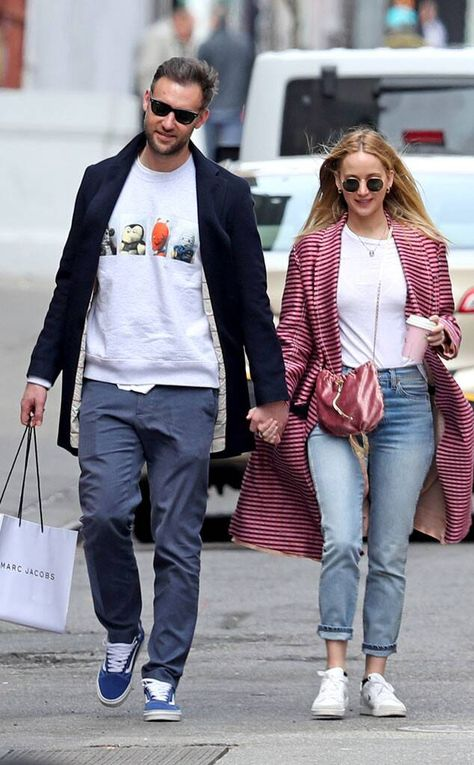 Jennifer Lawrence & Cooke Maroney from The Big Picture: Today's Hot Photos  Lovebirds! The actress and her fiance were spotted out and about in NYC. The two were spotted smiling as they headed to lunch.