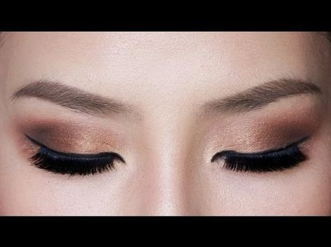 Easy Bronze Smokey Eye Makeup for Hooded Eyes - YouTube