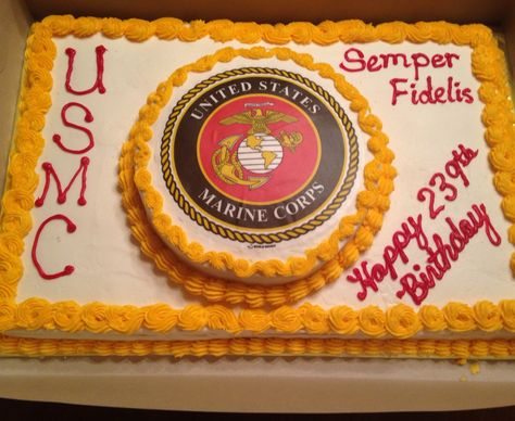 Sensational Marine Corps Birthday Cake Marine Corps Birthday Usmc Birthday Birthday Cards Printable Trancafe Filternl
