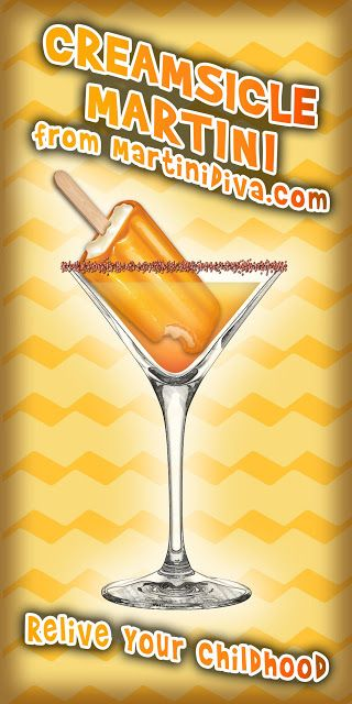 It's #NationalCreamsicleDay! Do you love Creamsicles?  I do too so you bet I have a #cocktail for that!   The #CREAMSICLE #MARTINI from MartiniDiva.com.