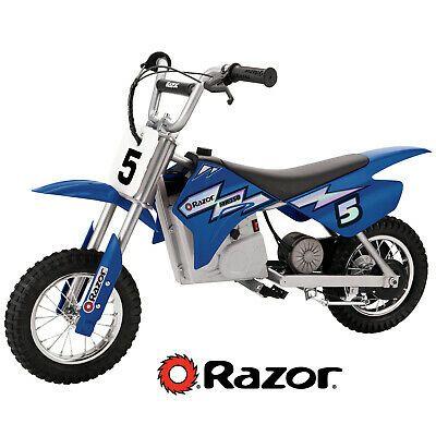 Electric Bike Motocross Blue 24 Volt Dirt Rocket 14 Mph Speed High Torque Motor Ebay Dirt Bikes For Kids Cool Dirt Bikes Kids Motorcycle