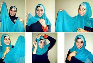 Tutorial Hijab Segi Empat Remaja Masa Kini Dengan Gambar Remaja