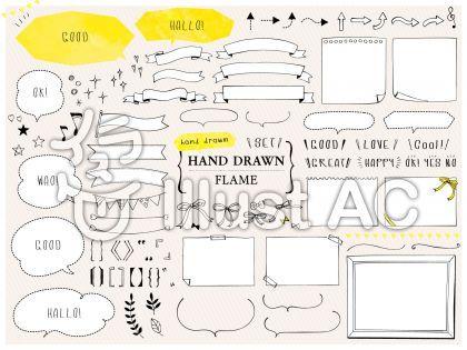 フレームイラスト 無料イラストなら イラストac 手のスケッチ フレーム イラスト 無料 無料のベクター素材
