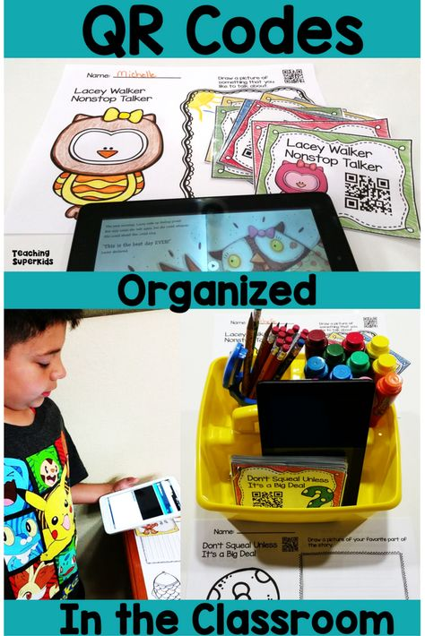 There are many ways to use QR Codes in your classroom! https://www.teachingsuperkids.com/using-qr-codes-in-the-classroom/ They make the perfect addition to your Listening Center and can be used during daily 5 rotations!