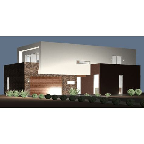 Ultra Modern Live-Work House Plan