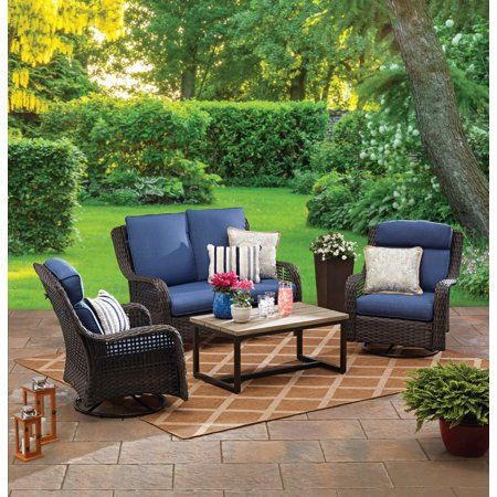 Better Homes Gardens Ravenbrooke 4 Piece Patio Furniture