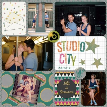Studio City, layout made with Violet's Bright Days.