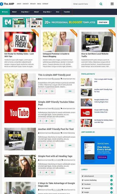 10 Best Free Amp Blogger Templates 2019 To Boost Your Blog
