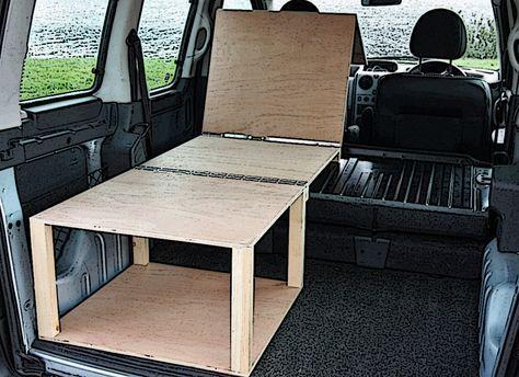 Citroen Berlingo Peugeot Partner Camper Van Conversion Module Mini Camper Van Camping Minivan Camping