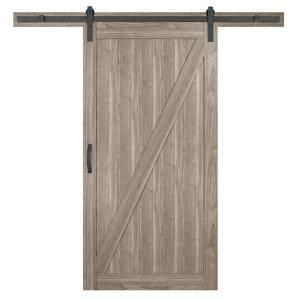 Masonite 42 In X 84 In Z Bar Knotty Alder Wood Interior Sliding Barn Door Slab With Hardware Kit 47613 The Home Depot In 2020 Interior Sliding Barn Doors Barn Style Sliding