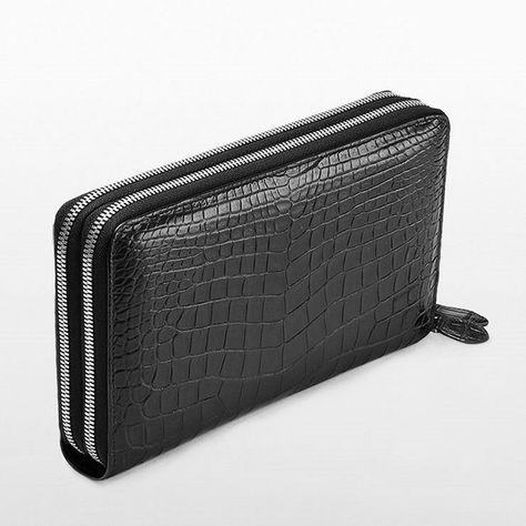 eafafd72e561 Men's Genuine Leather Clutch Long Wallet Zipper Handbag Card ...
