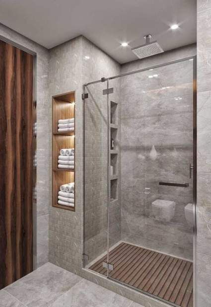 46 Ideas For Bath Room Door Modern Interior Design Small Bathroom Makeover Small Bathroom Remodel Small Bathroom