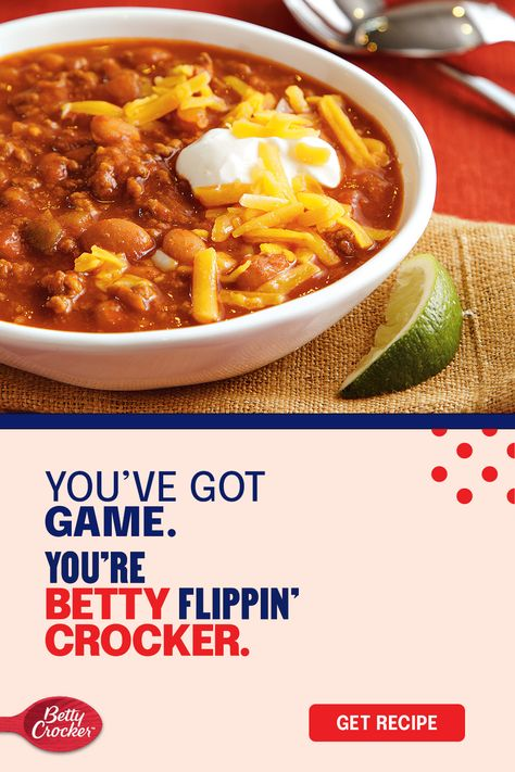 Whether your team wins or loses, our best game day chili will help you score big points with your cheer section. Prep this game day chili recipe before the clock starts and let the flavors simmer through game time. Don't forget to top with sour cream, cheddar cheese and a lime wedge for an extra touch of homemade deliciousness.