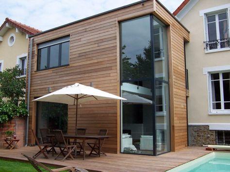Extension en bois Extension, véranda, cabane, auvent