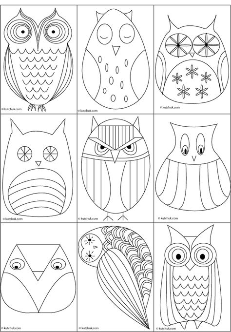 Great owl templates @Julie Devine