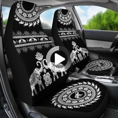 Elephant Mandala Car Seat Covers In 2020 Car Inspiration Car Seats Future Car