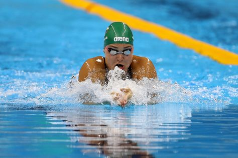 Ruta Meilutyte of Lithuania competes in the Women's 100m Breaststroke heat on Day 2 of the Rio 2016 Olympic Games at the Olympic Aquatics Stadium on August 7, 2016 in Rio de Janeiro, Brazil.