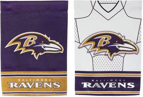 Baltimore Ravens Flag 2 Sided Jersey House Banner Baltimore Ravens Vintage Logo Design Flag
