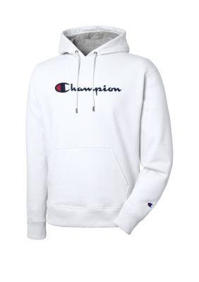 Champion Mens Graphic Sweatshirt White