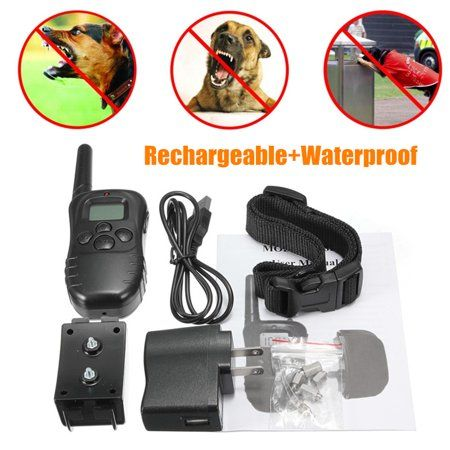 300m Electric Dog Training Collar Rechargeable Lcd Electric Shock