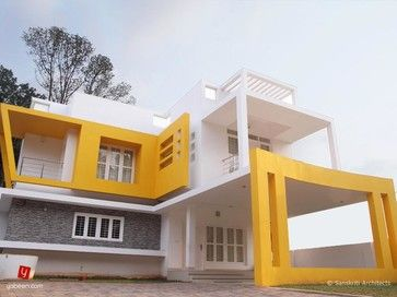 Exterior House Painting In Kerala Contemporary Home Designs Outside Paints And