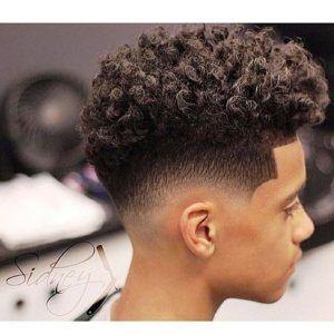 Curls et dégradé , 15 idées de coupe afro homme en 2019