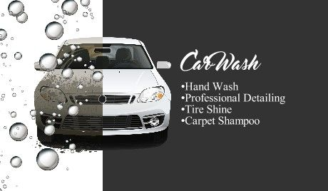 Car Wash Detailing Business Cards Cars Car Wash Car Wash Business Business Card Type