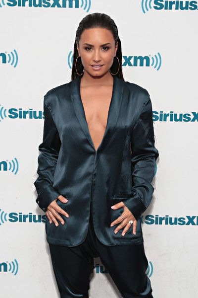 Demi Lovato visits 'The Morning Mash Up' on SiriusXM Hits 1 Channel.