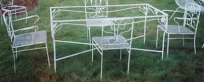 outdoor patio furniture wrought iron