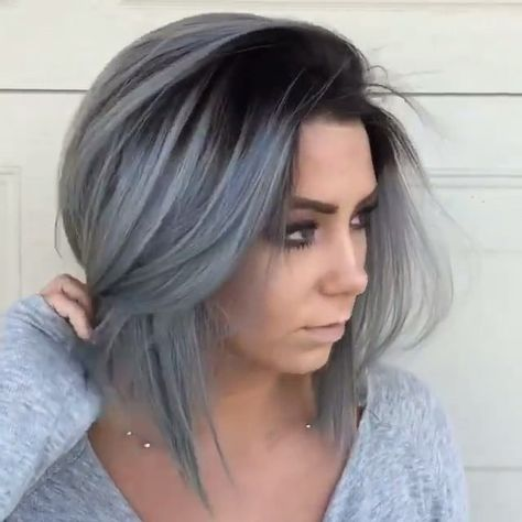 Do You Like This Grey Hair Trend Style Pinterest Mittellange