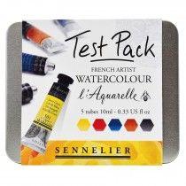 Sennelier L Aquarelle French Artists Watercolour Paint Test Pack