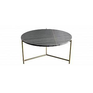 Table Basse Ronde En Marbre Noir Sillon En 2020 Table Basse Ronde Marbre Noir Et Table Basse