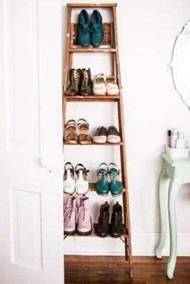 Diy 16 Idees Pour Fabriquer Un Meuble A Chaussures Astuce Rangement Chaussures Rangement Chaussures Meuble Chaussure