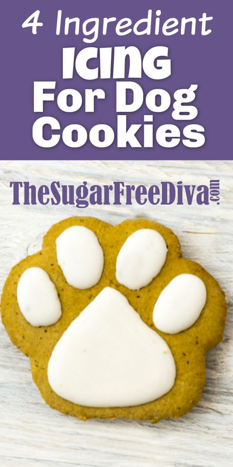 4 Ingredient Icing for Dog Cookies My dogs love when I make them yummy cookies and treats. This recipe for icing is perfect for making those yummy pet treats even better. Dog Cookie Recipes, Homemade Dog Cookies, Dog Biscuit Recipes, Dog Treat Recipes, Homemade Dog Food, Healthy Dog Treats, Dog Food Recipes, Pumpkin Dog Treats Homemade, Homemade Biscuits