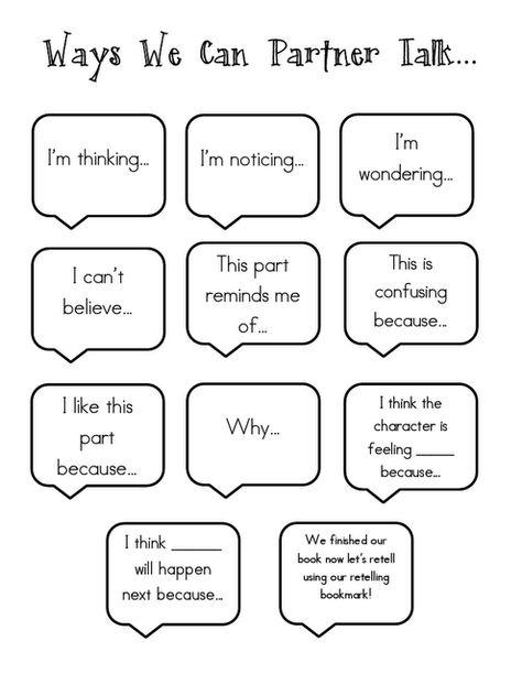 Ways we can partner talk