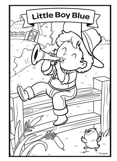 Nursery Rhymes Little Boy Blue Crayola Com Little Boy Blue Coloring Pages Free Coloring Pages